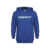 Youth Royal Fleece Hoodie-Dunk City Official Logo