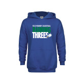 Youth Royal Fleece Hoodie-Raining Threes