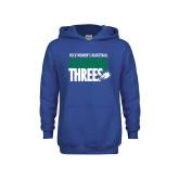 Youth Royal Fleece Hoodie-Raining Threes