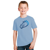 Youth Light Blue T Shirt-Eagle Head Foil