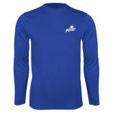Performance Royal Longsleeve Shirt-Primary Athletic Mark
