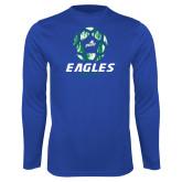 Syntrel Performance Royal Longsleeve Shirt-Soccer Ball Design