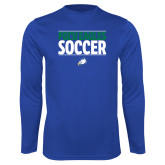 Syntrel Performance Royal Longsleeve Shirt-Stacked Soccer
