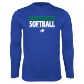 Syntrel Performance Royal Longsleeve Shirt-Softball Stacked