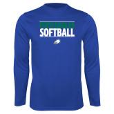 Performance Royal Longsleeve Shirt-Softball Stacked