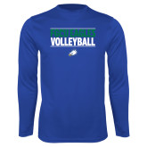 Syntrel Performance Royal Longsleeve Shirt-Volleyball Stacked