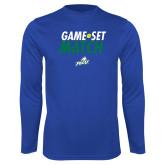 Syntrel Performance Royal Longsleeve Shirt-Game Set Match Tennis