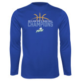 Performance Royal Longsleeve Shirt-2016 Atlantic Sun Conference Champions Mens Basketball