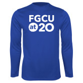 Syntrel Performance Royal Longsleeve Shirt-FGCU at 20 Stacked