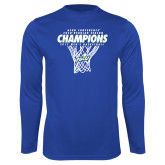 Syntrel Performance Royal Longsleeve Shirt-Regular Season Champions 2017 Mens Basketball Net Design