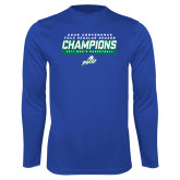 Syntrel Performance Royal Longsleeve Shirt-Regular Season Champions 2017 Mens Basketball Bar Design