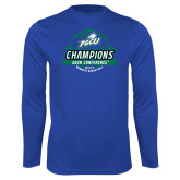 Syntrel Performance Royal Longsleeve Shirt-Asun Conference 2017 Womens Basketball Champions
