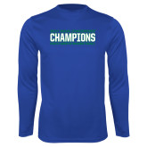 Syntrel Performance Royal Longsleeve Shirt-ASUN Champions 2017 Mens Basketball