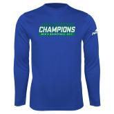 Syntrel Performance Royal Longsleeve Shirt-ASUN Champions 2017 Mens Basketball