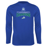 Performance Royal Longsleeve Shirt-2018 Womens Basketball Champions