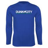 Performance Royal Longsleeve Shirt-Dunk City Official Logo