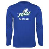 Syntrel Performance Royal Longsleeve Shirt-Baseball