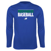 Performance Royal Longsleeve Shirt-Baseball Stacked