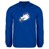 V Neck Royal Raglan Windshirt-Eagle Head