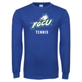 Royal Long Sleeve T Shirt-Tennis