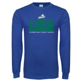 Royal Long Sleeve T Shirt-Basketball Triple Stacked