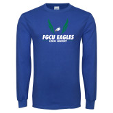 Royal Long Sleeve T Shirt-Cross Country Wings