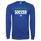 Royal Long Sleeve T Shirt-Stacked Soccer
