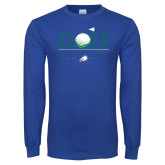 Royal Long Sleeve T Shirt-Golf Flag and Ball