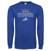 Royal Long Sleeve T Shirt-2016 Atlantic Sun Conference Champions Mens Basketball