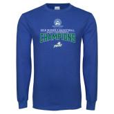 Royal Long Sleeve T Shirt-2018 Womens Basketball Champions
