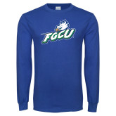 Royal Long Sleeve T Shirt-Primary Athletic Mark