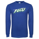 Royal Long Sleeve T Shirt-FGCU
