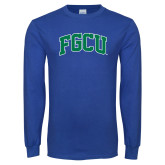 Royal Long Sleeve T Shirt-Arched FGCU