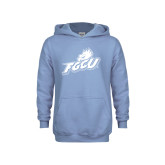 Youth Light Blue Fleece Hoodie-Primary Athletic Mark