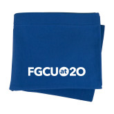 Royal Sweatshirt Blanket-FGCU at 20 Flat