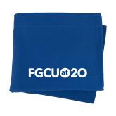 Royal Sweatshirt Blanket-FGCU at 20 Flat