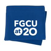Royal Sweatshirt Blanket-FGCU at 20 Stacked