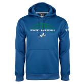Under Armour Royal Performance Sweats Team Hoodie-Basketball Half Ball