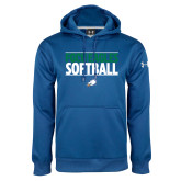 Under Armour Royal Performance Sweats Team Hoodie-Softball Stacked