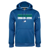Under Armour Royal Performance Sweats Team Hoodie-Swimming and Diving Stacked