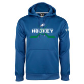 Under Armour Royal Performance Sweats Team Hoodie-Hockey Crossed Sticks w/ Puck