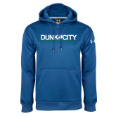 Under Armour Royal Performance Sweats Team Hood-Dunk City Official Logo