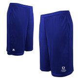 Russell Performance Royal 10 Inch Short w/Pockets-University Mark Stacked