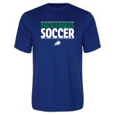 Performance Royal Tee-Stacked Soccer