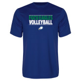 Syntrel Performance Royal Tee-Volleyball Stacked