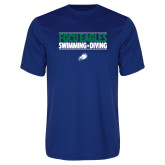 Performance Royal Tee-Swimming and Diving Stacked