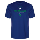 Performance Royal Tee-Lacrosse Abstract Stick
