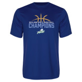 Performance Royal Tee-2016 Atlantic Sun Conference Champions Mens Basketball