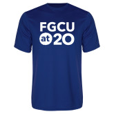 Performance Royal Tee-FGCU at 20 Stacked