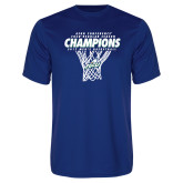 Syntrel Performance Royal Tee-Regular Season Champions 2017 Mens Basketball Net Design